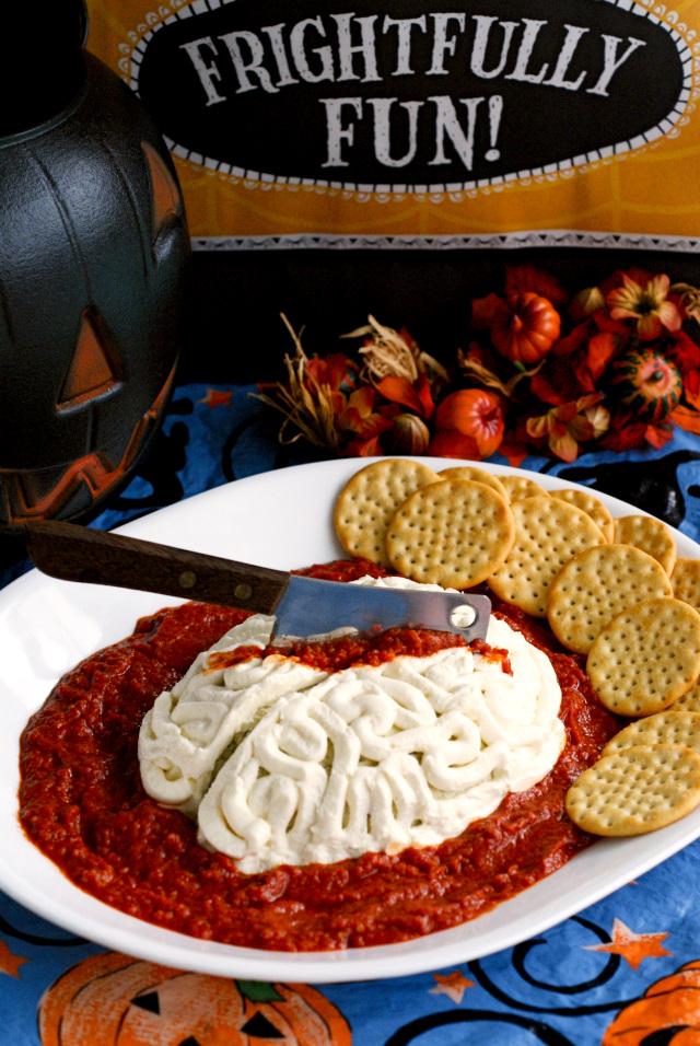 Zombie Brains Cheese Ball