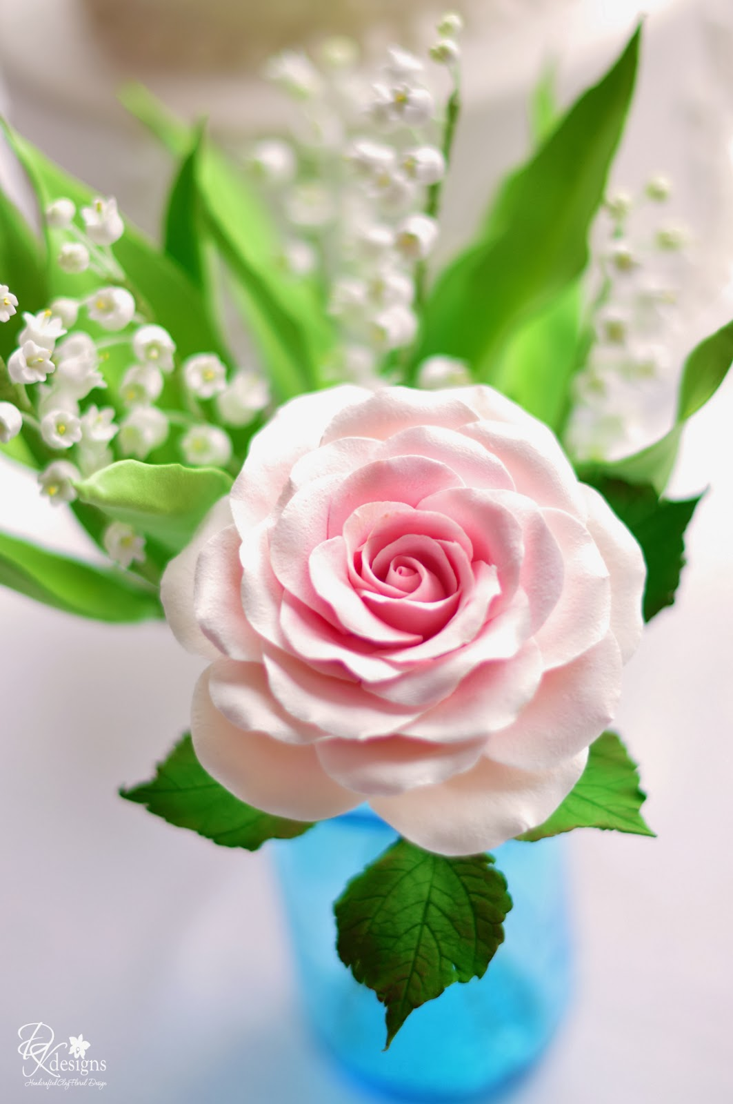 Dk designs lily of the valley rose and hydrangeas for Lily rose designer