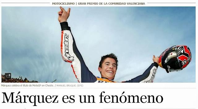 El triunfo de Márquez, en elpais.com