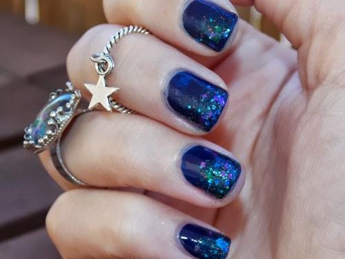 glinting lodestone swatch, femme fatale swatch, polish glinting lodestone swatch