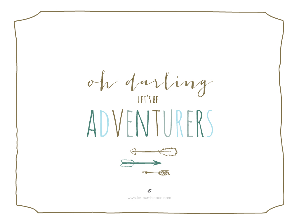 LostBumblebee ©2014 Let's Be Adventurers 1024x768 Desktop Background -PERSONAL USE ONLY