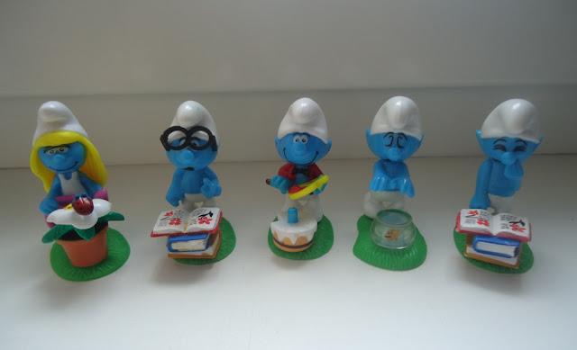 Smurf figures by PEYO SCHLEICH-Smurfette,Brainy,Painter,Sleepwalking,Jokey