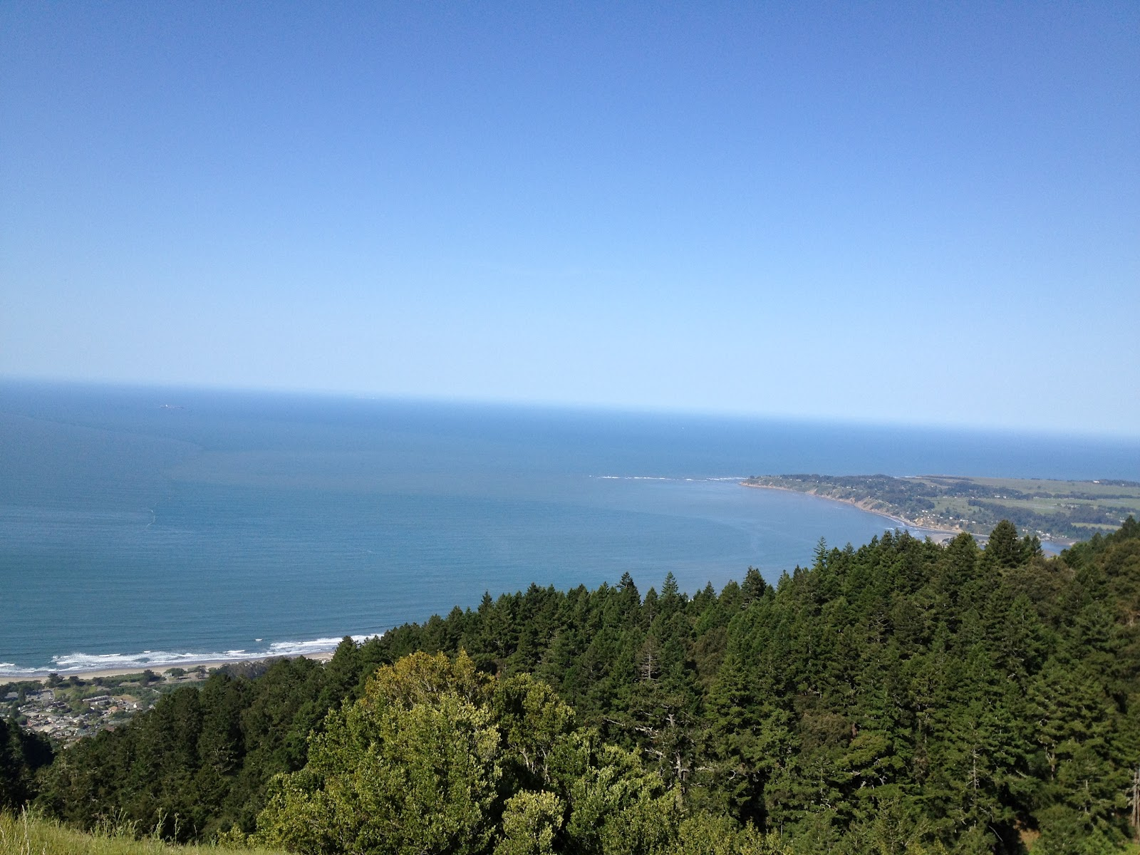 View down towards Stinson Beach.