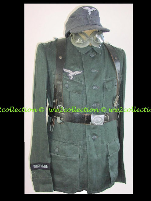 WW2 Luftwaffe Soldat Felddivision Summer Combat Feldbluse