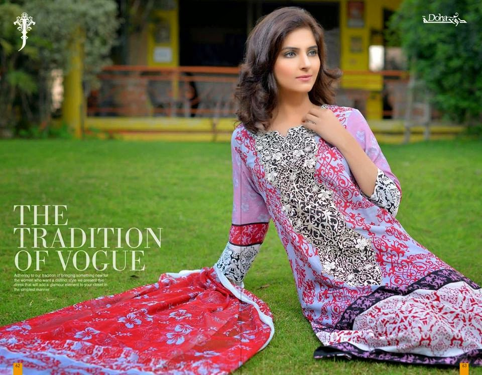 Summer embroidered lawn 2015