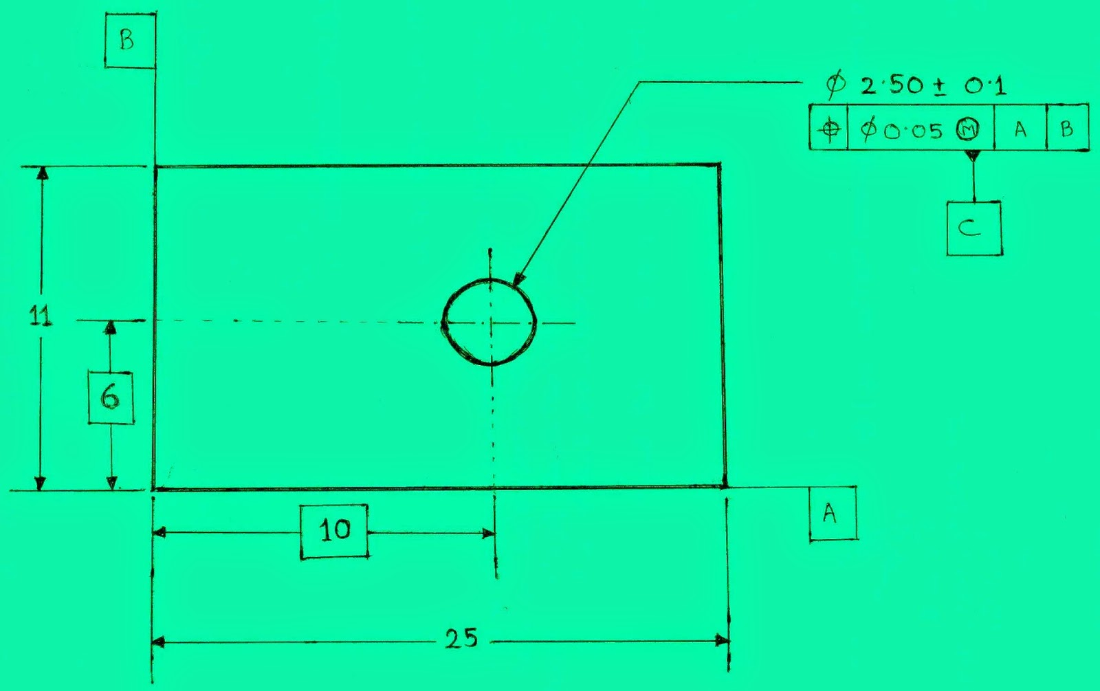 Geometric dimensioning and tolerancing gdt times of application of gdt for a sample drawing buycottarizona