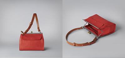 Ally Capellino Lana handbag red, tan