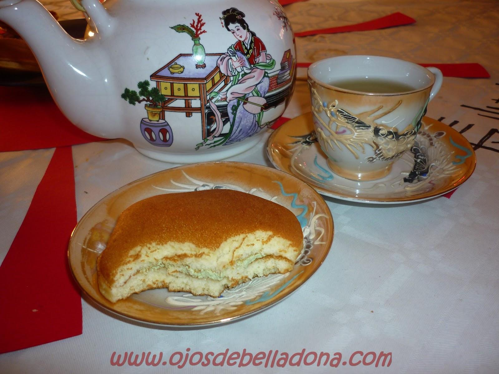 Dorayaki con té japonés
