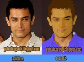 cara edit dengan membuat foto menjadi efek gambar kartun vektor menggunakan photoshop cs2 dan cs4