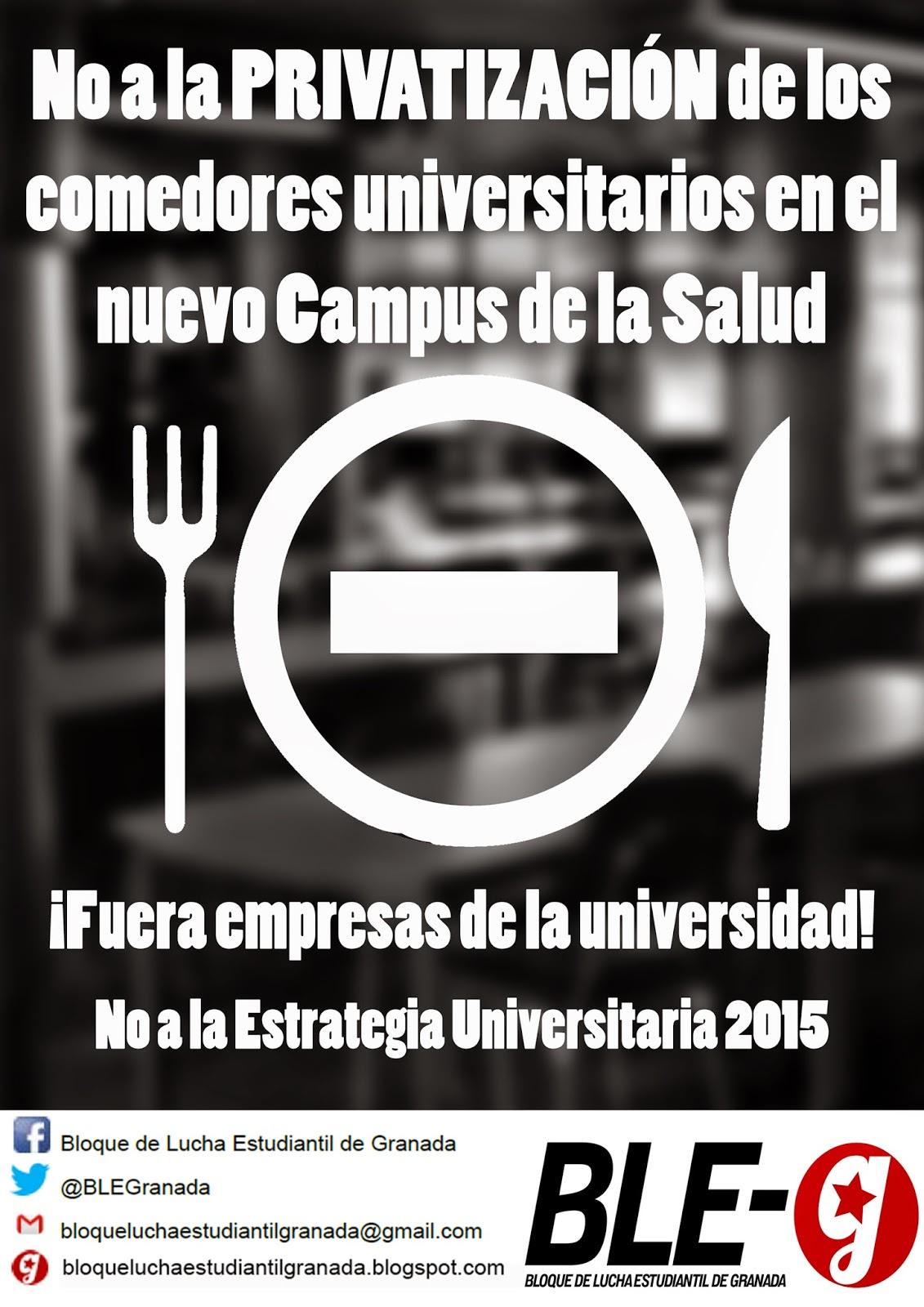 Frente de Estudiantes Granada: ¡NO a la PRIVATIZACIÓN comedores ...