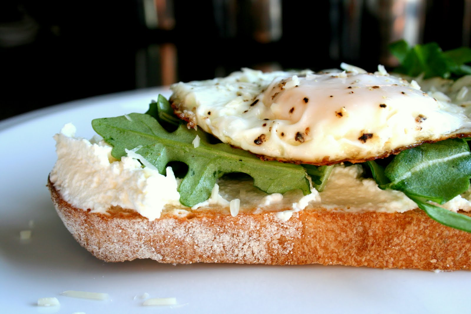 open faced egg bacon watercress sandwich sauce open faced egg bacon ...