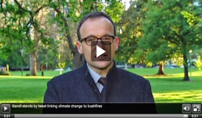 Adam Bandt talking bushfires and global warming