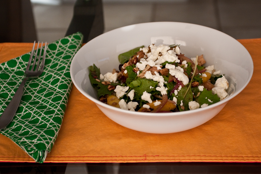 Summer Eats: Roast Chicken Salad with Peaches, Goat Cheese ...