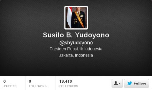 Twitter Susilo B. Yudoyono @sbyudoyono