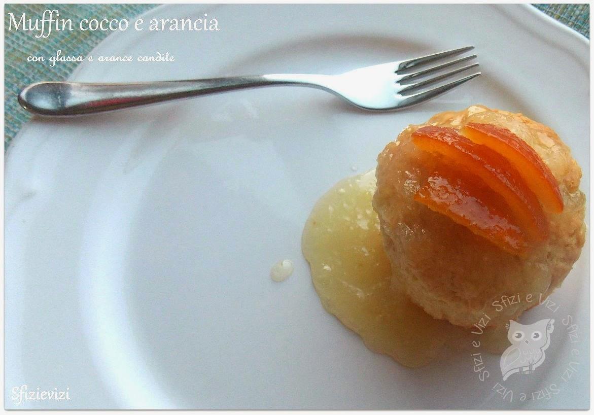 dolcetti arancia e cocco con glassa - ricetta muffin senza latticini -