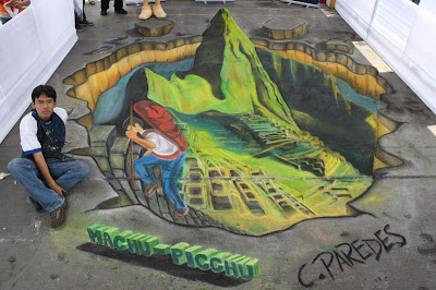César Paredes - 3d sidewalk art optical illusion