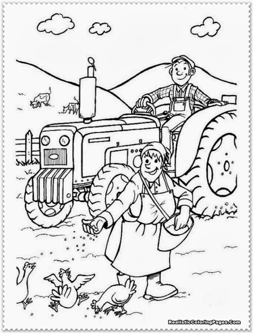 Colouring Pages For Farm Animals : Farm animal coloring pages realistic