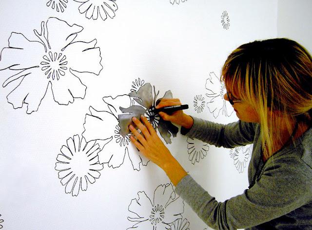 Arte y Arquitectura Paredes para colorear en casa