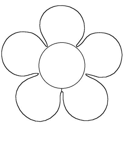 Simple Flower Coloring Pages Flower Coloring Page Easy Flower Coloring Pages