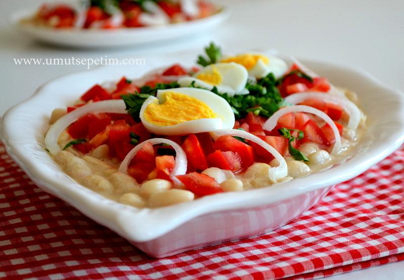 piyaz nasıl yapılır,tahinli piyaz,antalya, salata tarifleri