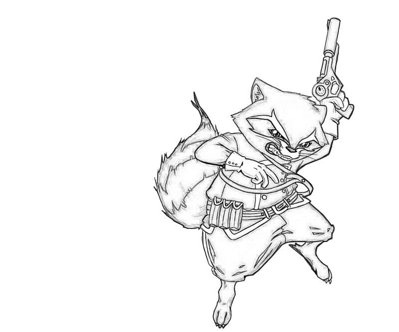 Rocket Raccoon Angry | Lowland Seed