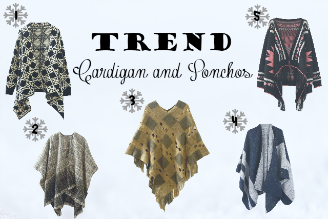 TREND CARDIGANS AND PONCHOS