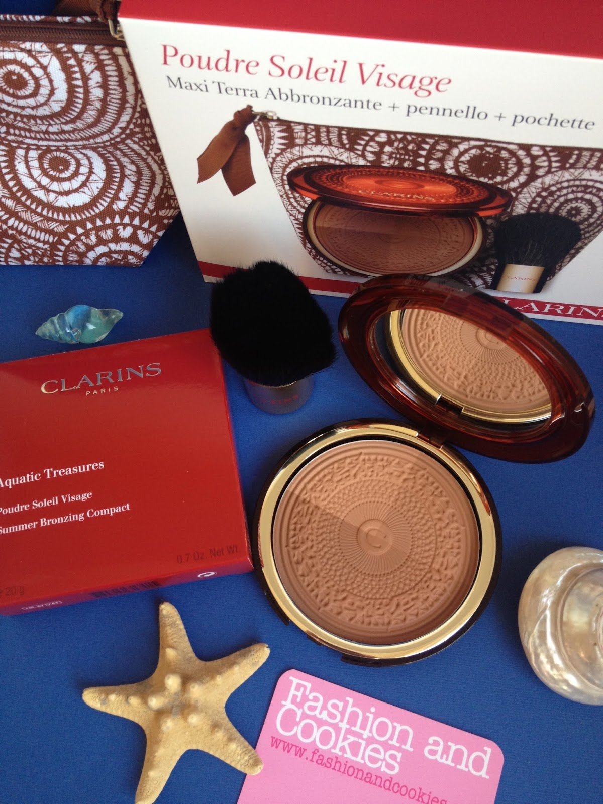 Clarins Aquatic Treasures Poudre Soleil Visage on Fashion and Cookies fashion and beauty blog