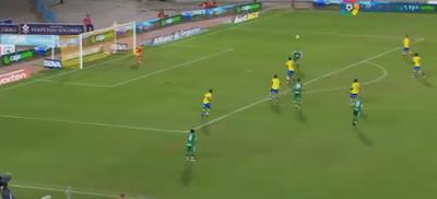 0-2 gol de Borja que recibe, controla y se da media vuelta para chutar