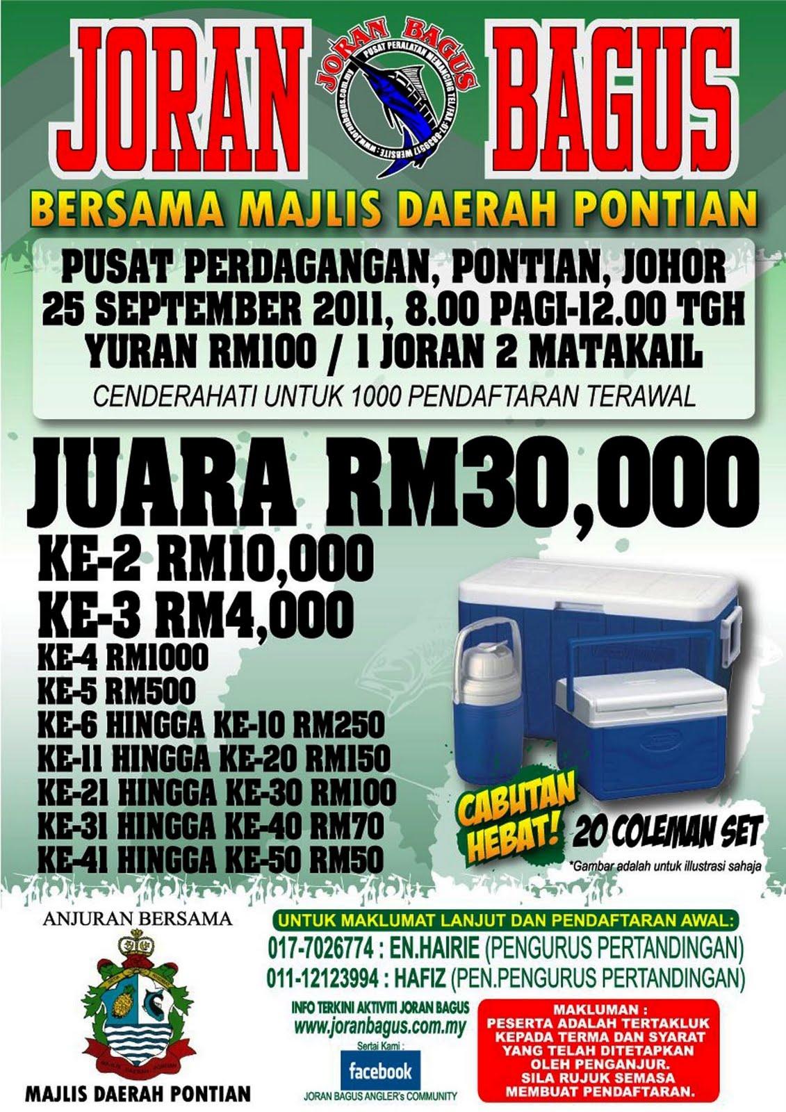JoranPancing RM30000 Sandaran Juara Pertandingan Joran