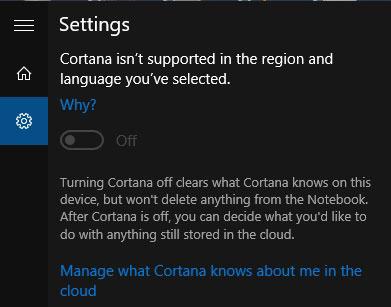 Cortana Windows 10 Belum Bisa Digunakan