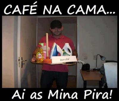 Mensagens para Facebook e imagens engraçadas Cafe Na Cama As Mina Pira