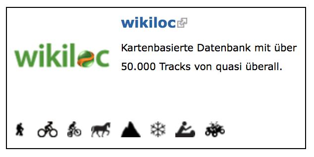 Wikiloc off road tracks zum Download für den 4x4