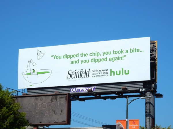 Seinfeld dipped the chip Hulu billboard