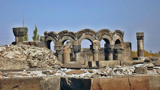 Ruins of Zvartnots, Armenia