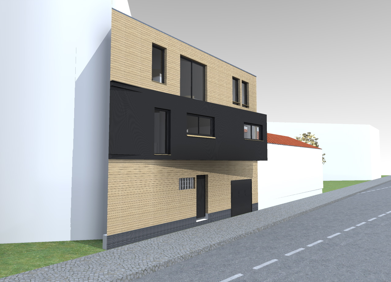 Sur l vation d 39 une maison arcueil esquisse architecte for Architecte val de marne