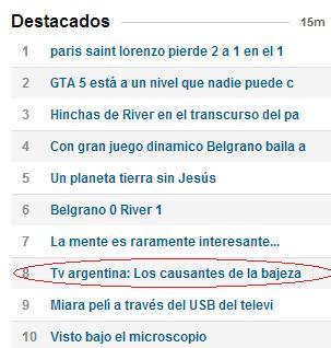 Tv argentina: Los causantes de la bajeza.