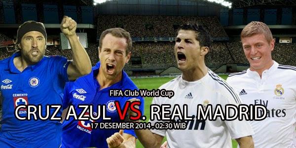 Cruz Azul vs Real Madrid Piala Dunia Antarklub 2014