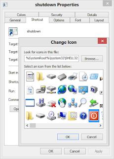 Shortcut properties icon