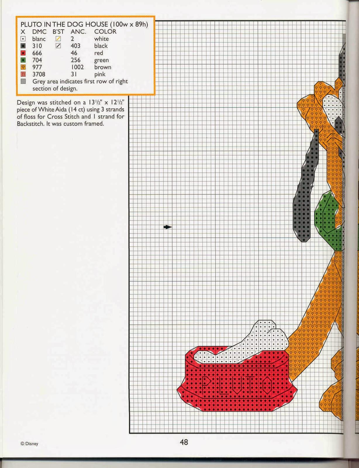 Hobby lavori femminili ricamo uncinetto maglia for Schemi punto croce pluto