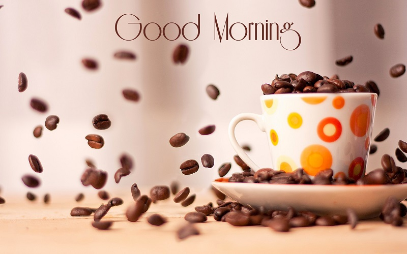good morning wishes with coffee cup