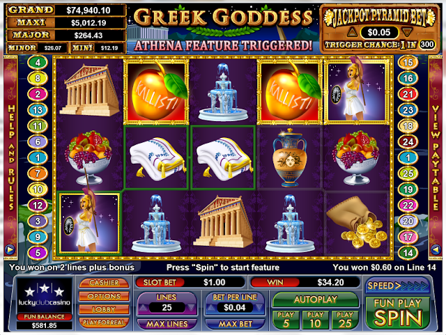Greek Goddess Video Slot Game Review