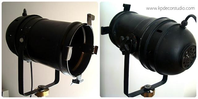 Lámparas artesanales sobre trípode