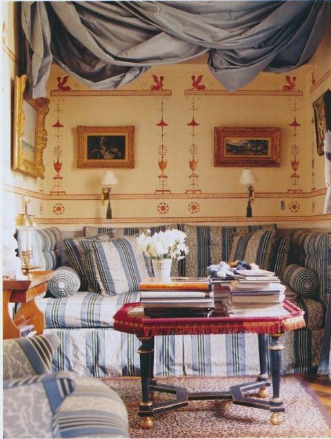 A Parisian Study Inspired By The Robert Adam Designed Etuscan Dressing Room At Osterley Park England Pieter Estersohn Photographer