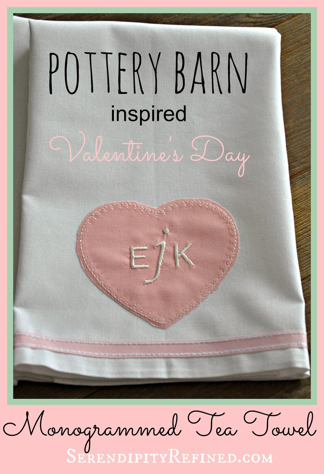 Pottery Barn Inspired Valentine S Day Monogrammed Towel