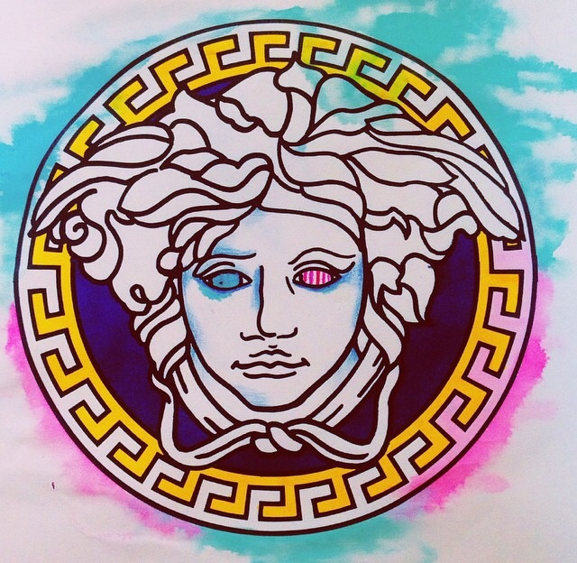 versace, art, logo, design, illustration, painting, fashion, style
