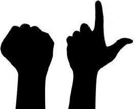 Загнуто 8 пальцев