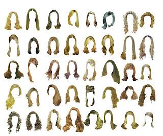rambut palsu Psd