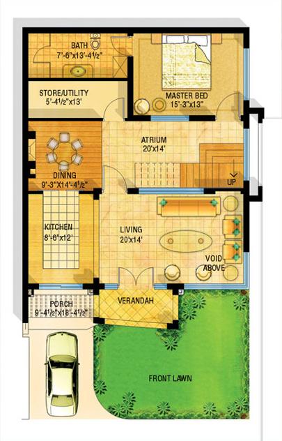 Front Elevation Map : D front elevation safri villas bahria homes