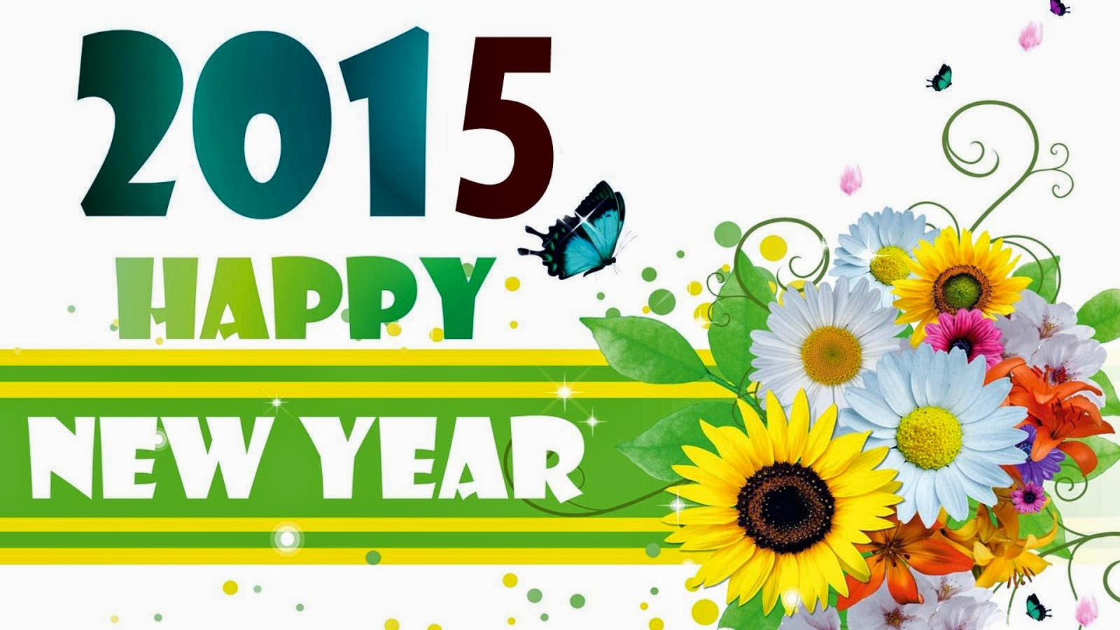 Happy new year 2015 images photos pictures happy new year 2015 wallpapers with flowers m4hsunfo