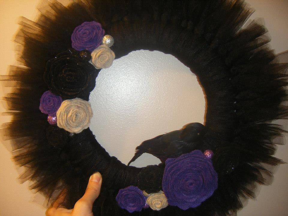 christmas tulle wreaths instructions